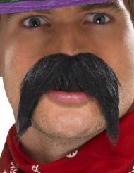 Moustache noire gringo adulte