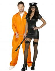 Déguisement de couple policière sexy et son prisonnier