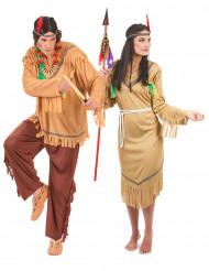 Déguisement de couple indiens classiques adultes