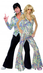 Déguisement couple disco wavy