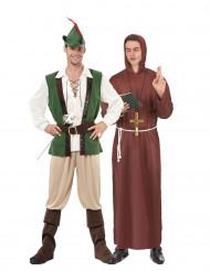 Déguisement de couple Robin et moine des bois
