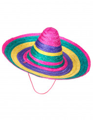 Sombrero multicolore adulte
