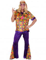 Déguisement hippie effet velours homme