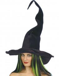 Chapeau sorcière noir velours femme Halloween