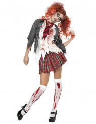 Déguisement écolière zombie Halloween femme