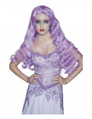 Perruque longue gothique violette femme Halloween