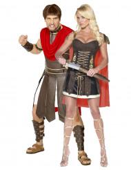 Déguisements couple gladiateurs romains