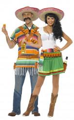 Déguisement couple serveurs Mexicains