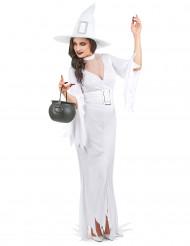 Déguisement sorcière blanche femme Halloween