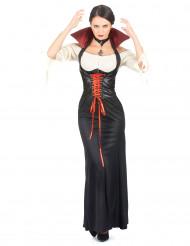 Déguisement vampire effet cuir femme Halloween