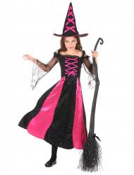 Déguisement sorcière dentelé fille Halloween