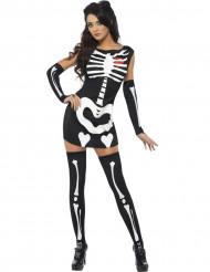 Déguisement squelette sexyfemme Halloween