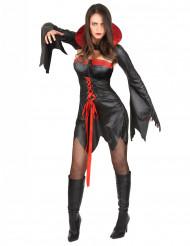 Déguisement satiné vampire sexy femme Halloween