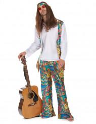 Déguisement hippie motifs colorés homme