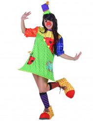 Déguisement clown avec cerceau femme