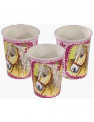 Gobelets Charmant chevaux en carton 250 ml
