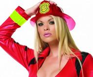 Casque chef pompier rouge adulte