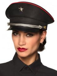 Casquette capitaine noire femme