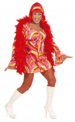 Déguisement Drag Queen disco homme orange
