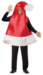 Déguisement bonnet de Noël adulte