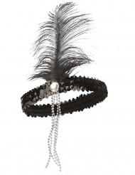 Bandeau charleston noir