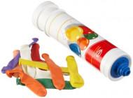 10 Ballons multicolores avec pompe