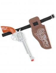 Pistolet et ceinture de cow-boy en plastique enfant