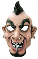 Masque caricature punk homme crête et piercing