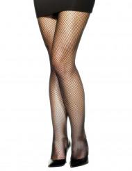Collants résilles noirs larges femme