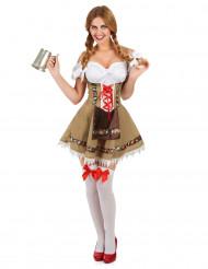 Déguisement bavaroise beige femme