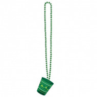 Collier avec verre shooter Saint-Patrick