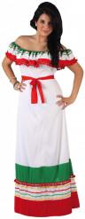 Déguisement mexicaine robe longue femme