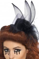 Mini chapeau veuve noire