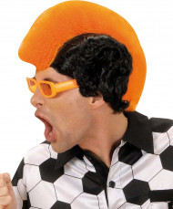 Perruque supporter orange homme