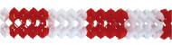 Guirlande en papier de couleur rouge et blanc
