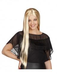Perruque blonde longue femme