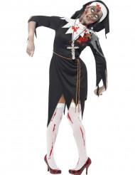 Déguisement zombie religieuse femme Halloween