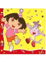 20 Serviettes en papier Dora l