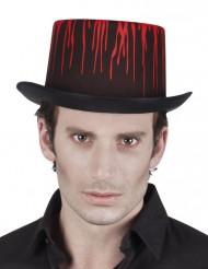 Chapeau noir ensanglanté adulte Halloween