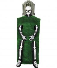 Déguisement squelette pierre tombale adulte