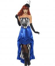 Déguisement cabaret squelette femme Halloween