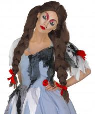 Perruque tressée femme Halloween