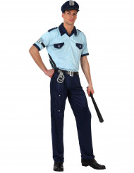 Déguisement policier pantalon bleu homme