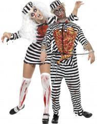 Déguisement couple prisonniers zombie Halloween