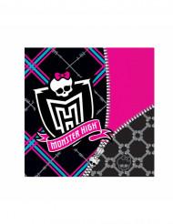 20 Serviettes en papier Monster High™ 33 x 33 cm