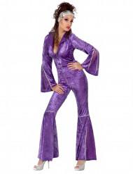 Déguisement disco femme violet