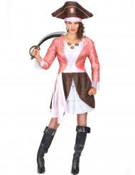 Déguisement pirate femme rose