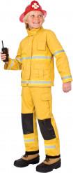 Déguisement de pompier américain jaune enfant