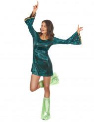 Déguisement disco vert femme
