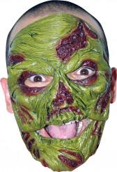 Masque zombie vert adulte Halloween